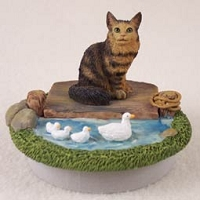 Brown Tabby Maine Coon Candle Topper Tiny One