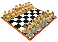 Pomeranian Red Chess Set (Pieces Only)