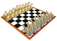 Chihuahua White & Tan Chess Set (Pieces Only)