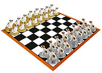 Jack Russell Terrier Brown & White w/Smooth Coat Chess Set (Pieces Only)