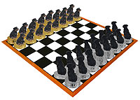 Rottweiler Chess Set (Pieces Only)