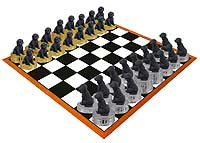 Labradoodle Black Chess Set (Pieces Only)
