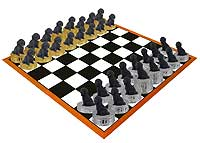 Cockapoo Black Chess Set (Pieces Only)