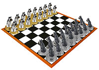 Schnauzer Gray Chess Set (Pieces Only)