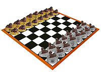 Dachshund Red Chess Set (Pieces Only)