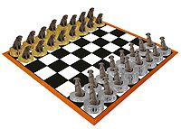 Labrador Retriever Chocolate Chess Set (Pieces Only)