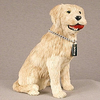 Labrador Retriever Yellow My Dog Fur Figurine