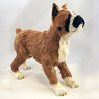 Boxer My Dog Large Fur Figurine