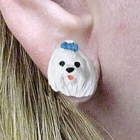 Maltese Earrings Post