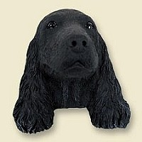 Cocker Spaniel English Black Doogie Head
