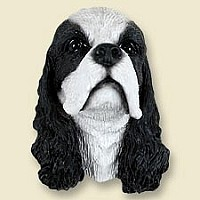 Cocker Spaniel Black & White Doogie Head