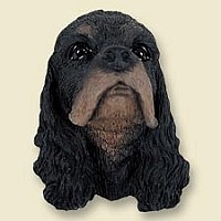 Cocker Spaniel Black & Tan Doogie Head