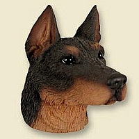 Doberman Pinscher Red w/Cropped Ears Doogie Head