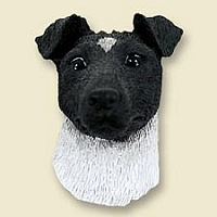 Fox Terrier Black & White Doogie Head