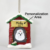 Poodle White House Ornament (Personalize-It-Yourself)