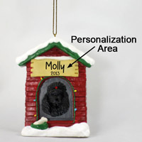 Poodle Black House Ornament (Personalize-It-Yourself)