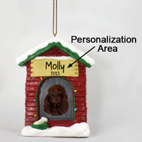 Poodle Chocolate House Ornament (Personalize-It-Yourself)