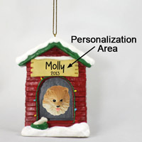 Pomeranian Red House Ornament (Personalize-It-Yourself)