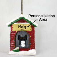 Chihuahua Black & White House Ornament (Personalize-It-Yourself)