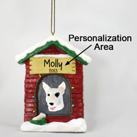 Bull Terrier House Ornament (Personalize-It-Yourself)