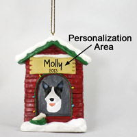 Bull Terrier Brindle House Ornament (Personalize-It-Yourself)