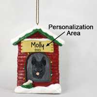 German Shepherd Black House Ornament (Personalize-It-Yourself)