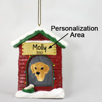 Golden Retriever House Ornament (Personalize-It-Yourself)