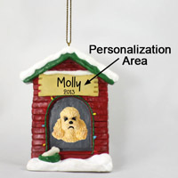 Poodle Apricot w/Sport Cut House Ornament (Personalize-It-Yourself)