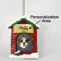 Jack Russell Terrier Brown & White w/Smooth Coat House Ornament (Personalize-It-Yourself)