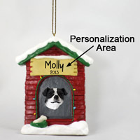Jack Russell Terrier Black & White w/Smooth Coat House Ornament (Personalize-It-Yourself)