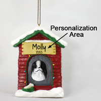 Japanese Chin Black & White House Ornament (Personalize-It-Yourself)