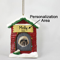Lhasa Apso Brown w/Sport Cut House Ornament (Personalize-It-Yourself)