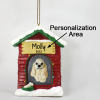 Cocker Spaniel Blonde House Ornament (Personalize-It-Yourself)