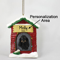 Cocker Spaniel Black & Tan House Ornament (Personalize-It-Yourself)