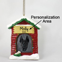 Great Dane Black House Ornament (Personalize-It-Yourself)