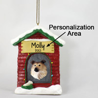 Collie Sable House Ornament (Personalize-It-Yourself)