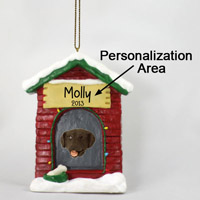 Labrador Retriever Chocolate House Ornament (Personalize-It-Yourself)