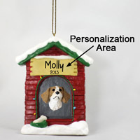 Brittany Brown & White Spaniel House Ornament (Personalize-It-Yourself)