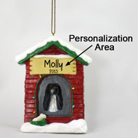 Afghan Black & White House Ornament (Personalize-It-Yourself)