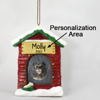Keeshond House Ornament (Personalize-It-Yourself)