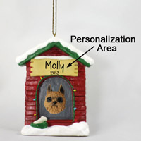 Brussels Griffon Red House Ornament (Personalize-It-Yourself)