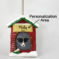 Jack Russell Terrier Black & White w/Rough Coat House Ornament (Personalize-It-Yourself)