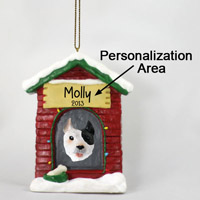 Pit Bull Terrier Brindle House Ornament (Personalize-It-Yourself)