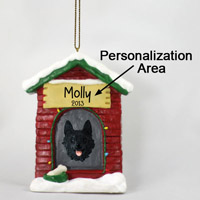 Schipperke House Ornament (Personalize-It-Yourself)