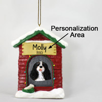 Black & White Cavalier King Charles House Ornament (Personalize-It-Yourself)