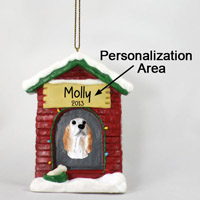 English Setter Belton Orange House Ornament (Personalize-It-Yourself)