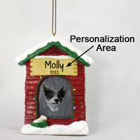Australian Cattle Blue Dog House Ornament (Personalize-It-Yourself)