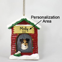 Australian Shepherd Blue House Ornament (Personalize-It-Yourself)