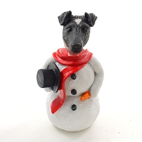 Fox Terrier Black & White  Jolly Holidog