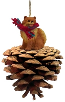 Pomeranian Red Pinecone Pet Ornament